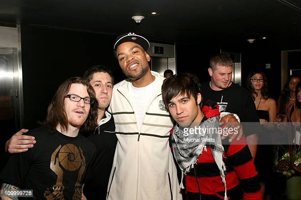 Fall Out Boy and Method Man during 2006 MTV Video Music Awards SIRIUS Suites Produced by On 3 Productions Day 1 at W HotelTimes Square in New York...