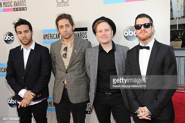 Fall Out Boy attends the 2013 American Music Awards at Nokia Theatre LA Live on November 24 2013 in Los Angeles California