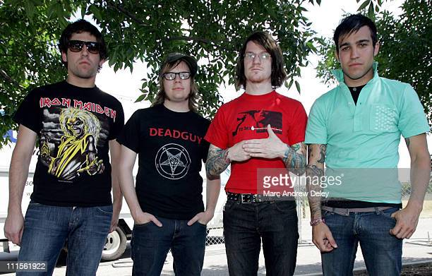 Fall Out Boy during 2005 Vans Warped Tour Fall Out Boy Portrait Session at Germain Amphitheatre in Columbus Ohio United States