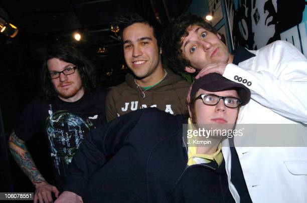 Fall Out Boy during Fall Out Boy and Aly AJ Visit MTV's TRL at MTV Studios in New York City New York United States