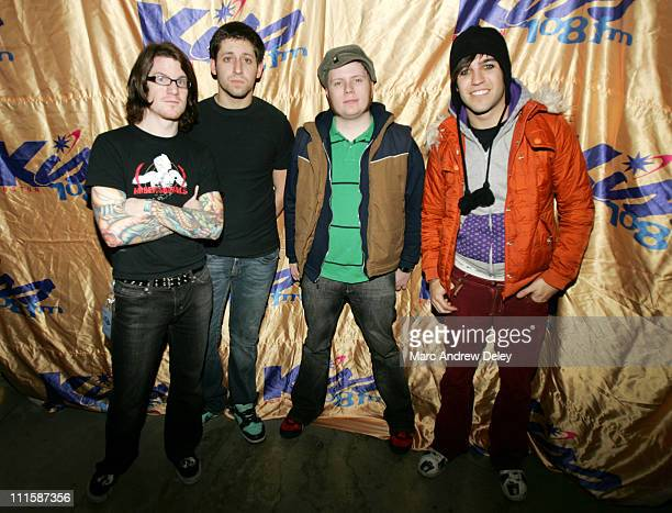 Fall Out Boy during Kiss 108 FM Jingle Ball 2005 Backstage at Tsongas Arena in Lowell Massachusetts United States