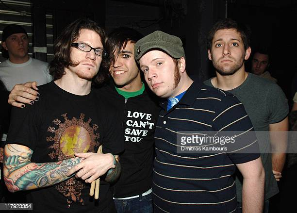 Fall Out Boy during Z100's Jingle Ball 2005 Backstage and Audience at Madison Square Garden in New York City New York United States