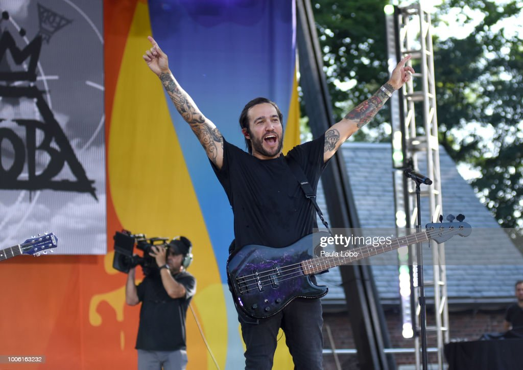 AMERICA - Fall Out Boy perform live from Central Park on 'Good Morning America,' as part of the GMA Summer Concert series on Friday, July 27, 2018 airing on the ABC Television Network. GMA18 FALL