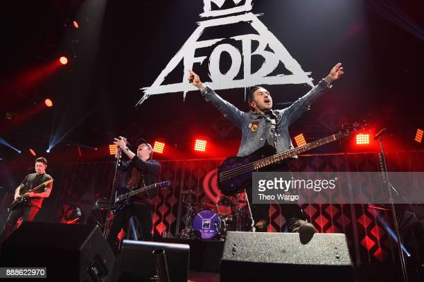 Fall Out Boy performs at Z100's Jingle Ball 2017 on December 8 2017 in New York City
