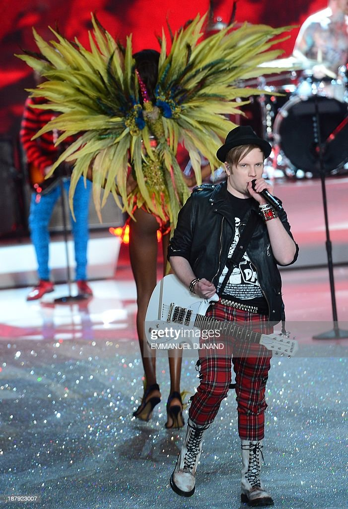 Fall Out Boy performs during the 2013 Victoria's Secret Fashion Show at the Lexington Avenue Armory on November 13, 2013 in New York. AFP PHOTO/Emmanuel Dunand