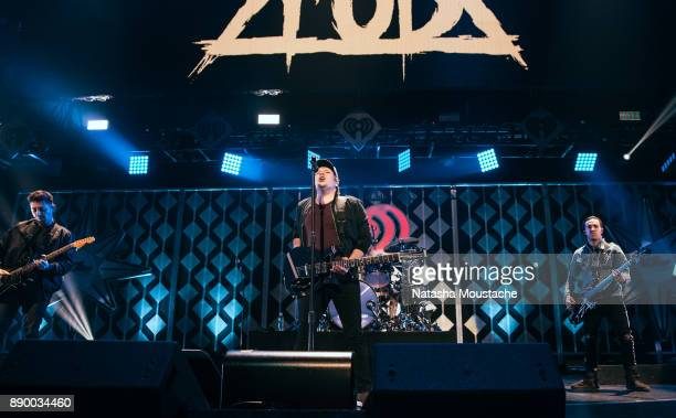 Fall Out Boy performs onstage at Kiss108's Jingle Ball on December 10 2017 in Boston Massachusetts