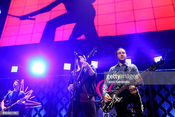 Fall Out Boy performs onstage during Hot 995's Jingle Ball 2017 Presented by Capital One at Capital One Arena on December 11 2017 in Washington DC