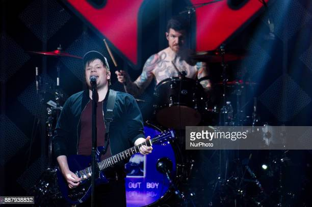 Fall Out Boy performs onstage during the Q102's iHeartRadio Jingle Ball 2017 at the Wells Fargo Center in Philadelphia PA on December 6 2017