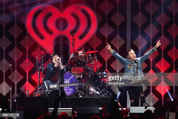 Fall Out Boy performs onstage during Z100's iHeartRadio Jingle Ball 2017 at Madison Square Garden on December 8 2017 in New York City