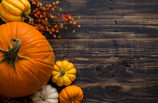 Fall Pumpkin Holiday Background 610046864