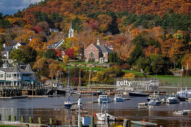 Fall scene at Camden, Maine