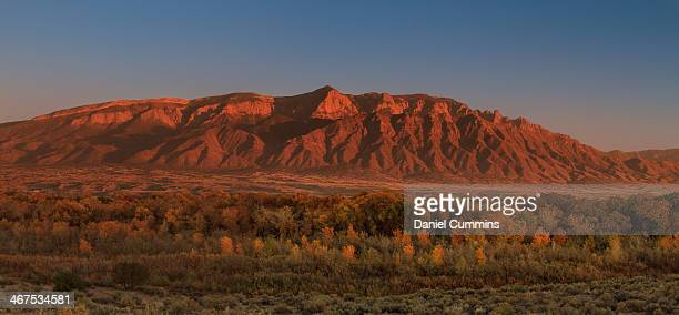fall sunset on the sandias - rio rancho stock pictures, royalty-free photos & images