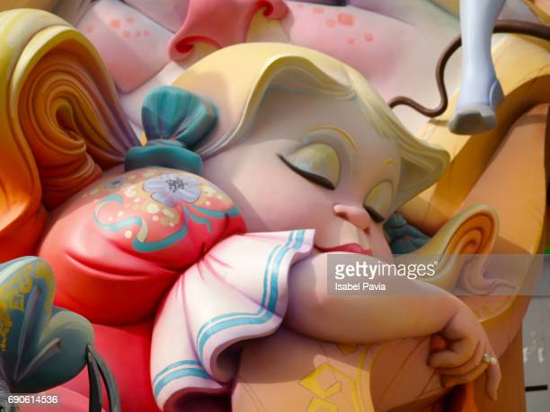 fallas, a traditional celebration held in commemoration of saint joseph in the city of valencia, in spain. - march month stock photos and pictures