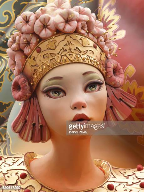 Fallas, a traditional celebration held in commemoration of Saint Joseph in the city of Valencia, in Spain.