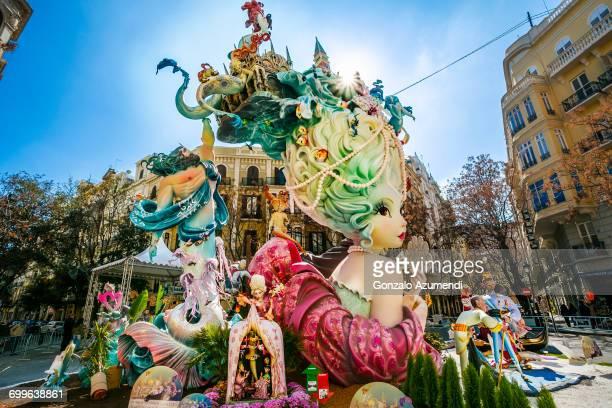 fallas festival - valencia spanien stock-fotos und bilder