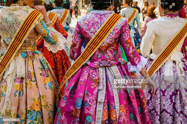 fallas festival - traditional clothing stock pictures, royalty-free photos & images