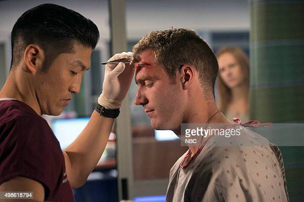 MED Fallback Episode 103 Pictured Brian Tee as Dr Ethan Choi Jared Canfield as Trevor