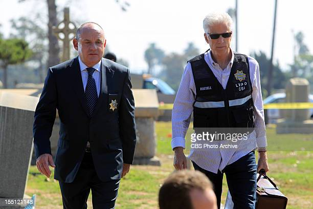 Fallen Angels Captain Jim Brass and DB Russell arrive at the grave site of a former CSI on CSI CRIME SCENE INVESTIGATION Wednesday Nov 14 on the CBS...