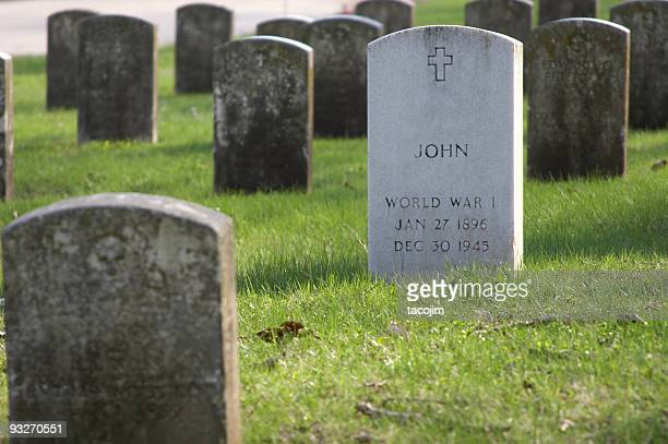 fallen hero - tombstone stock pictures, royalty-free photos & images