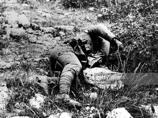Fallen soldier during World War I Italy 191518