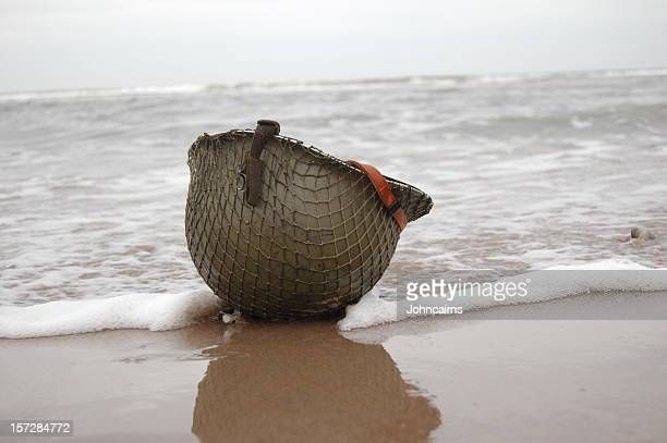 fallen soldier. - d day stock photos and pictures
