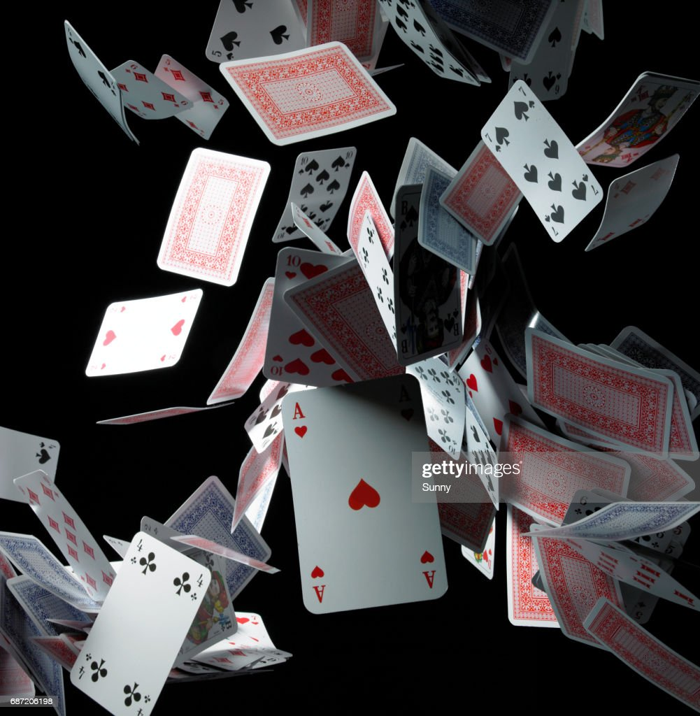 falling Cards : Stock Photo