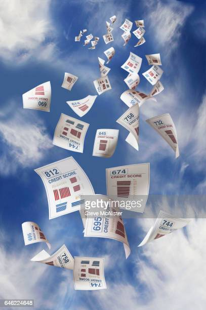 falling credit reports - credit score stock pictures, royalty-free photos & images
