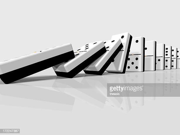 falling dominoes - theasis bildbanksfoton och bilder