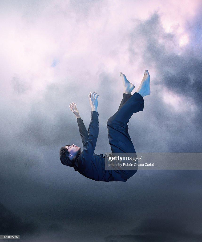 Falling down : Stock Photo