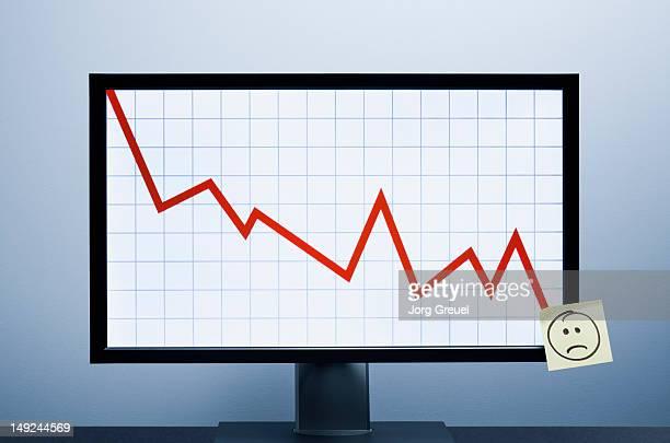 Falling financial graph