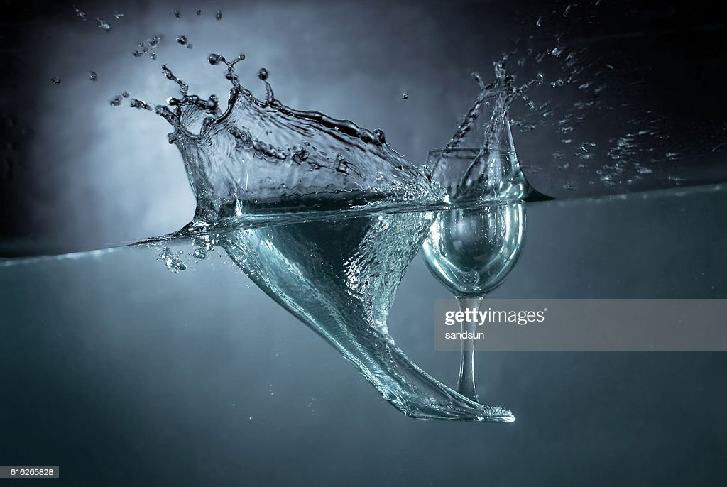 falling glass : Stock Photo