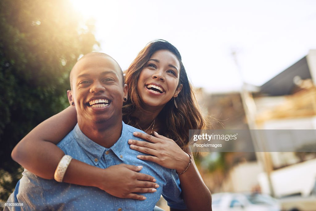 Falling in love is so much fun : Stock Photo