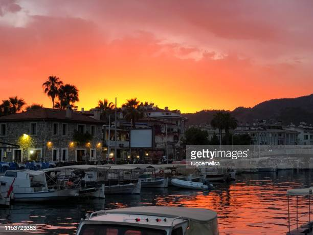 falling in love with sunset 9 - mugla province stock pictures, royalty-free photos & images