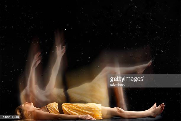 falling into a dream - dead women stock photos and pictures