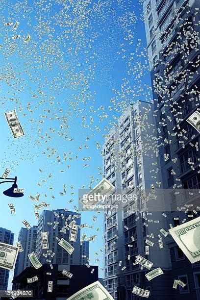 falling お金の街