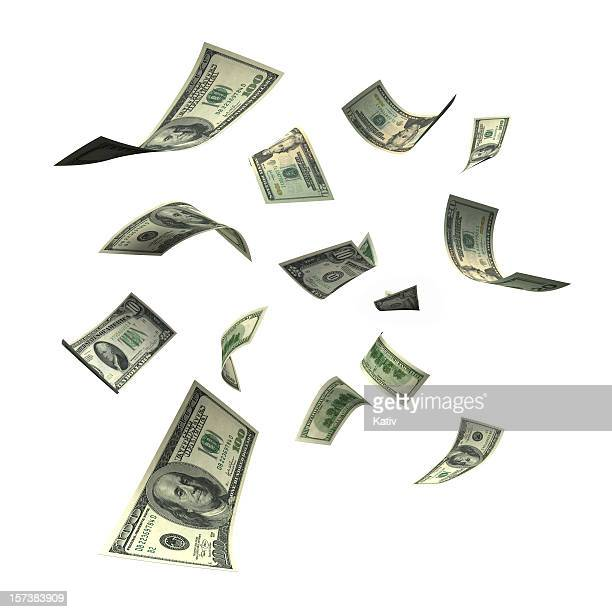 sinkende geld (xxl - 10 dollar schein us dollar geldschein stock-fotos und bilder