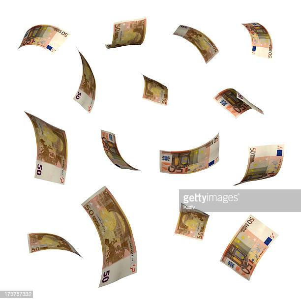 falling money (xxl) - euro symbol stock photos and pictures