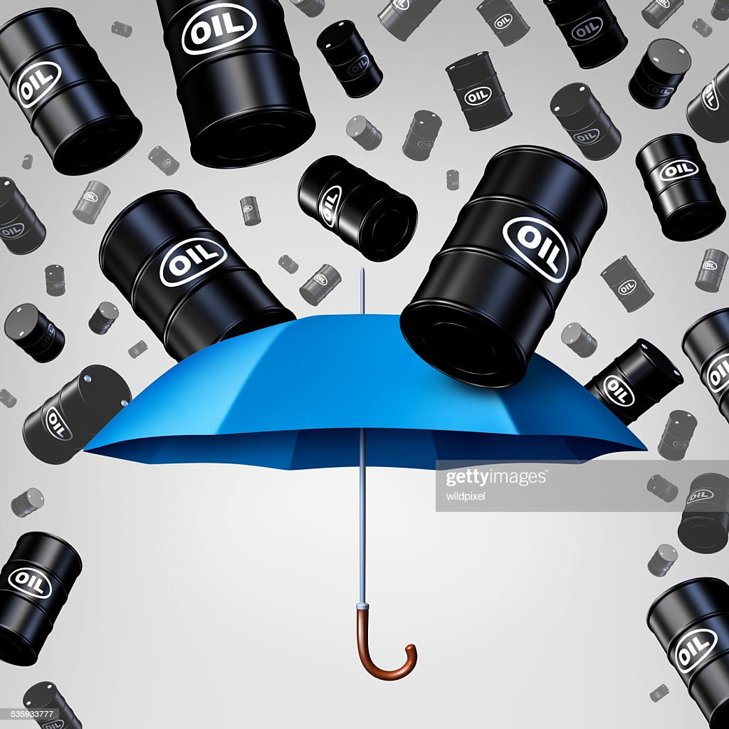 Falling Oil Protection : Stock Photo