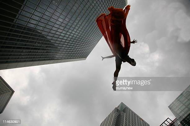 falling or flying - superhero stock pictures, royalty-free photos & images