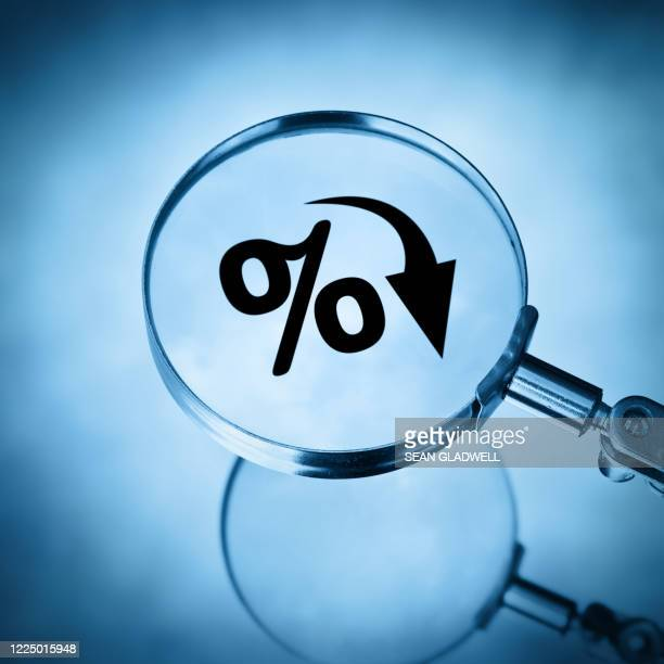 falling percentage rate - percentage sign stock pictures, royalty-free photos & images
