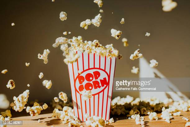 falling popcorn - film festival stock pictures, royalty-free photos & images