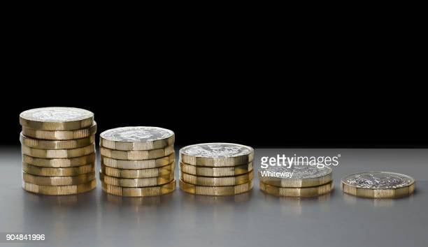 brexit falling pound histogram gbp falling in currency market - decline stock pictures, royalty-free photos & images