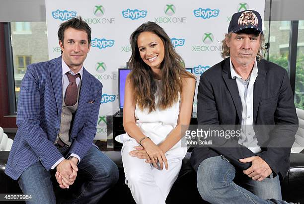 'Falling Skies' actors Noah Wyle Moon Bloodgood and Will Patton drop by the Microsoft VIP Lounge during ComicCon on July 25 2014 in San Diego...