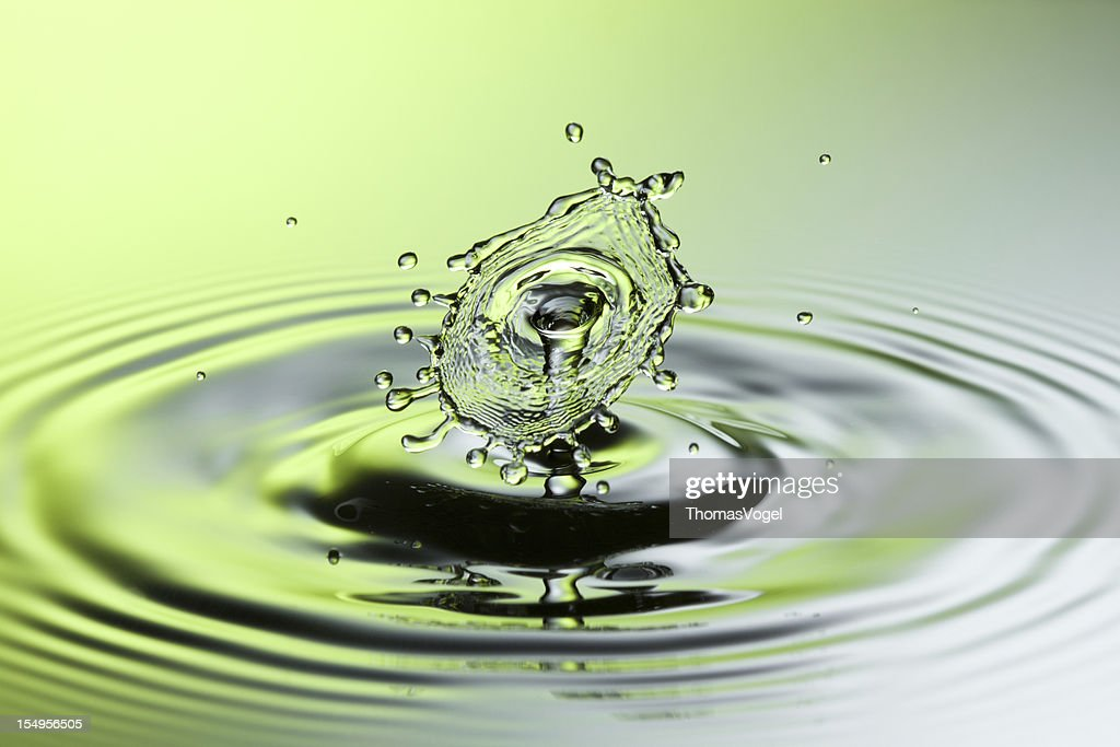 Falling Water Splash Viii Freeze Frame Motion Drop Stock Photo ...