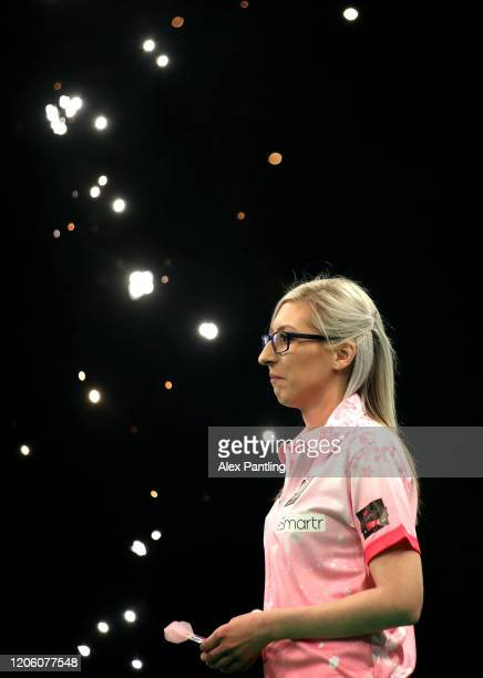 Fallon Sherrock prior to her match against Glen Durrant during day two of the Unibet Premier League at Motorpoint Arena on February 13 2020 in...