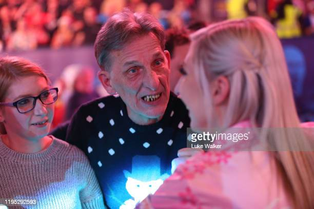 Fallon Sherrock with her family during the round 2 match between Mensur Suljovic and Fallon Sherrock on Day 9 of the 2020 William Hill World Darts...