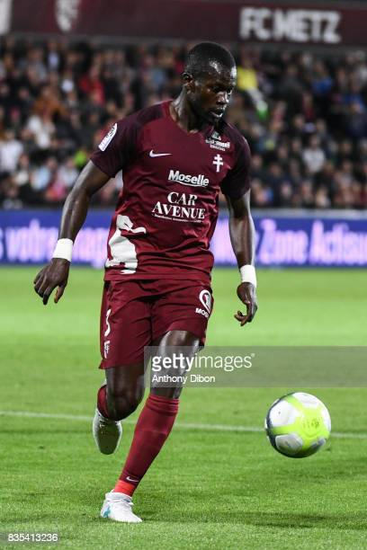 Fallou Diagne of Metz during the Ligue 1 match between FC Metz and AS Monaco on August 18 2017 in Metz