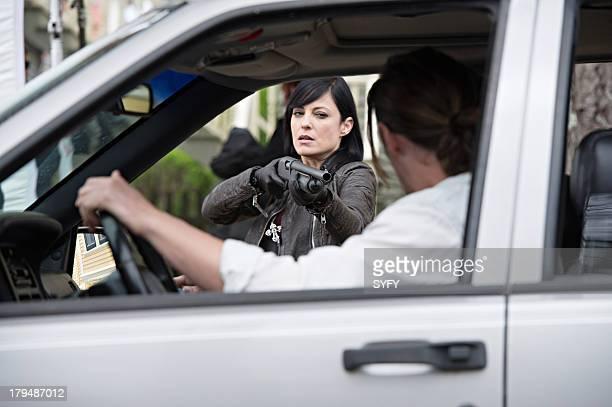 HAVEN 'Fallout' Episode 401 Pictured Kate Kelton as Jordan McKee Eric Belfour as Duke Crocker