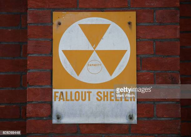 A fallout shelter sign still hangs near the entrance to the old Bruce Elementary School which is now called the Cesar Chavez Prep Middle School on...