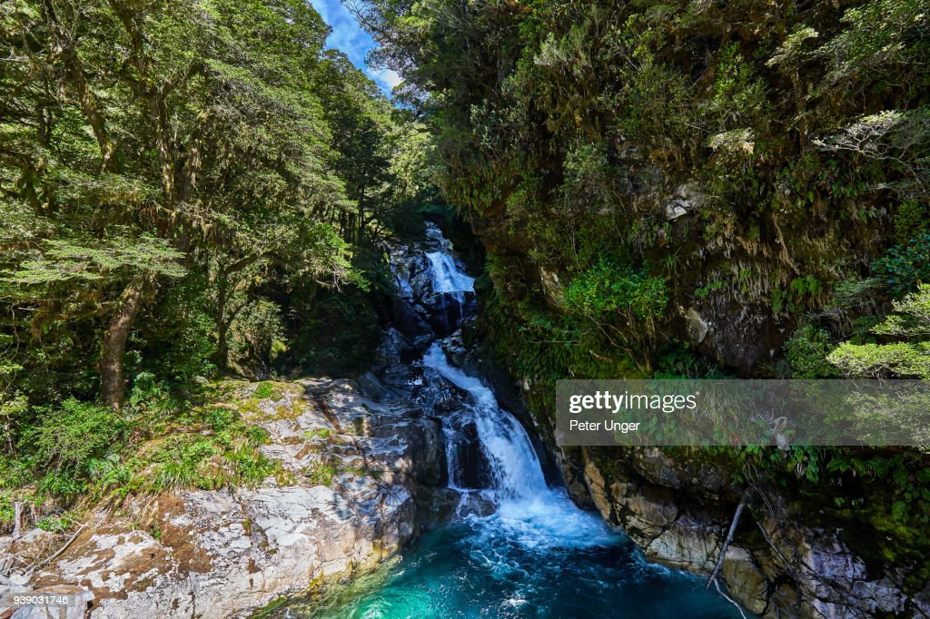 Falls Creek Waterfall Fiordland National Parksouthland New